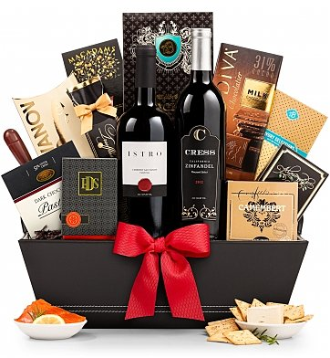 5th Ave Wine Gift Basket 8496 Bold Old Vine California Zinfandel And Berry Rich Cabernet Are The Pillars Of Character That Set Standard For This