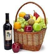 Fruit & Wine Basket