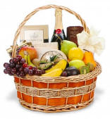 Champagne Fruit and Gourmet Gift Basket $144.95 Same Day Nationwide Delivery
