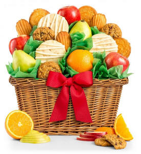 Fruit and Cookies Gift Basket