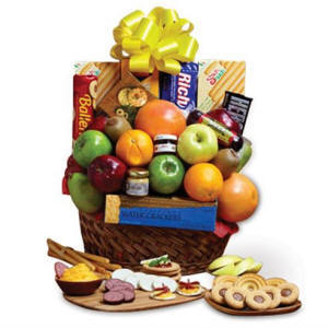 Fruit & Snacks Gift Basket