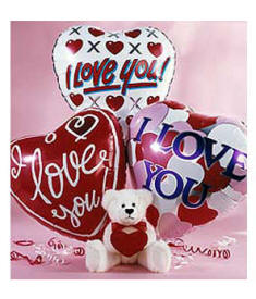 I Love you Teddy Bear And Balloons Gifts Under $30