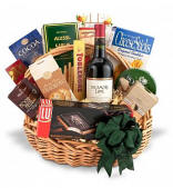 Traditional Wine and Gourmet Basket $149.95 Same Day Delivery