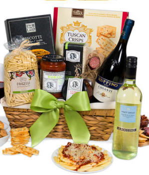 Wine and Gourmet Gift Baskets Same Day Delivery